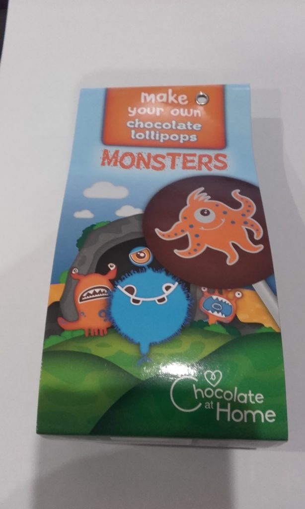 monster chocolate lollipop